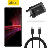 Olixar Sony Xperia 1 III 18W USB-C PD Fast Charger & 1.5m USB-C Cable