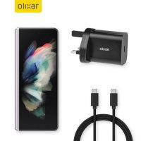 Olixar Samsung Galaxy Z Fold 3 18W USB-C Fast Charger & 1.5m Cable