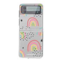 LoveCases Samsung Galaxy Z Flip 3 Gel Case - Abstract Rainbow