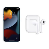FX iPhone 13 Pro Max True Wireless Earphones With Microphone - White