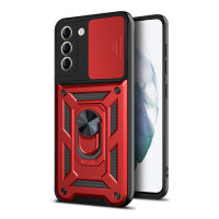 Olixar Armourdillo Galaxy S21 Finger Ring Case - Red
