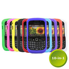 10-in-1 Silicone Case Pack for BlackBerry Curve 8520/9300