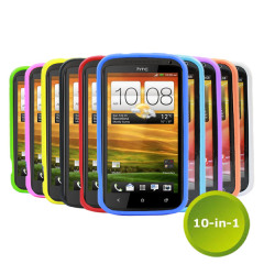10-in-1 Silicone Case Pack for HTC One X