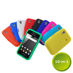10-in-1 Silicone Case Pack for Samsung Galaxy Ace