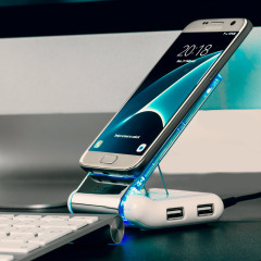 The Olixar Desk Genie is the only holder you will ever need. It is a universal charger, USB hub and a card reader – all this and it holds virtually any phone.