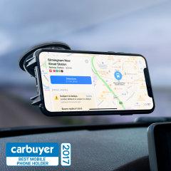 El soporte de coche Olixar Dash Genie será su accesorio definitivo para llevar su smartphone de manera cómoda y segura y en vehículo. Es perfecto tanto para el cristal como para el salpicadero.
