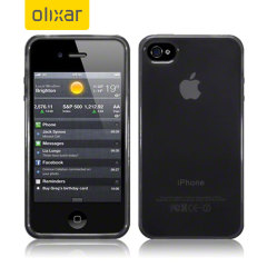 FlexiShield Skin voor Apple iPhone 4 - Rook Zwart