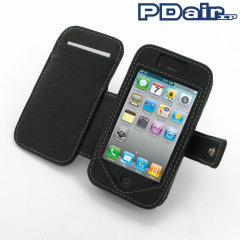 Funda cuero PDair Leather Book para iPhone 4S / 4