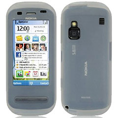 Protective silicone skin which offers maximum protection and gives access to all the phones features for the Nokia C6 in white.