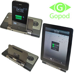Gopod Faltbare Dockingstation für iPad, iPhone und iPod Touch