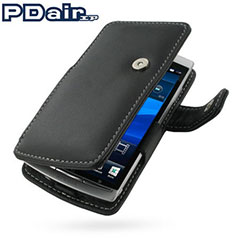 PDair Leather Book Case - Sony Ericsson Xperia arc S / arc