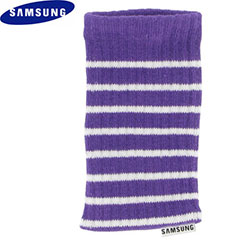 Samsung Universal Mobile Phone Stripey Sock - Purple