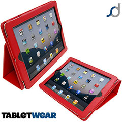 SD Tabletware Stand and Type  iPad 3 und iPad 2 Tasche in Rot