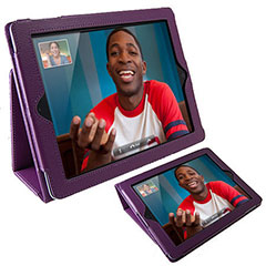Funda  iPad 4 / 3 / 2  TabletWear Stand and Type - Morada
