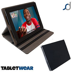 Funda iPad 4 / 3 / 2 SD TabletWear LuxFolio - Negra
