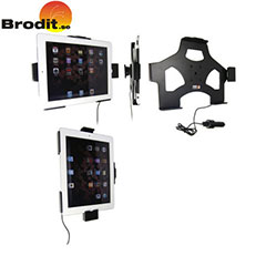 Charge and use your iPad 2 safely in your vehicle with this Brodit active holder with tilt swivel.