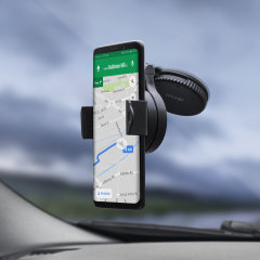 The OmniHolder car holder is designed to allow you to position your phone or MP3 player in either landscape or portrait modes and either on your cars windshield or the dashboard.