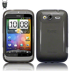 FlexiShield Skin Case für HTC Wildfire S in Schwarz