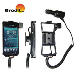 Charge and use your Sony Ericsson Xperia arc S / arc safely in your vehicle with this Brodit active holder with tilt swivel.