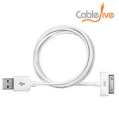 CableJive xlSync Extra Long 2M Cable for Apple 30 Pin Devices - White