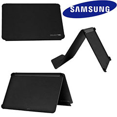 Samsung Galaxy Tab 10.1 Leather Book Case - Zwart