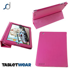 SD Tabletwear Case for iPad 4 / 3 / 2 with Smart Cover Front - Pink