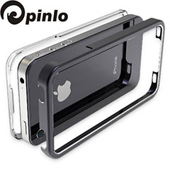 Pinlo United Aluminium Edge Case für iPhone 4 in Schwarz