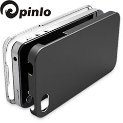 Pinlo United Aluminium Edge Case für iPhone 4S und 4 in Titanium Grau