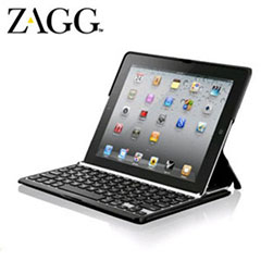 ZaggFolio iPad 2 Case with Bluetooth Keyboard - Black