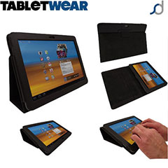 SD TabletWear Stand and Type Samsung Galaxy Tab 10.1 Case - Zwart