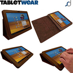 SD TabletWear Stand and Type Samsung Galaxy Tab 10.1 Case - Bruin