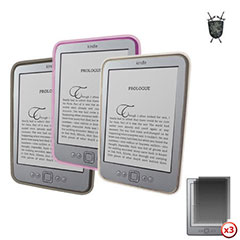 Pack 3 en 1 Fundas Kindle Advanced FlexiShield Skin