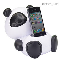 Supporto con altoparlante KitSound per iPhone o iPod - Panda