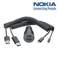 Original Nokia Dual Micro USB Kfz Ladekabel