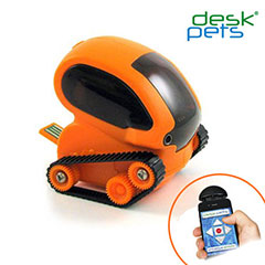 Desk Pets Tankbot in Orange