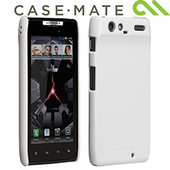 For those who prefer nothing to come between them and their Motorola RAZR, this white case is for you.