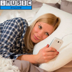 The iMusic Pillow speaker allows you to listen to your music from your smartphone or mp3 player in bed without disturbing those around you. Using adapted headphone technology, the sound transmits through the pillow at a comfortable listening level.