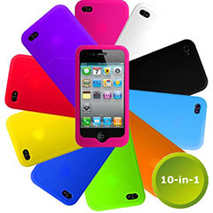 Pack 10 fundas de silicona para iPhone 4S / 4