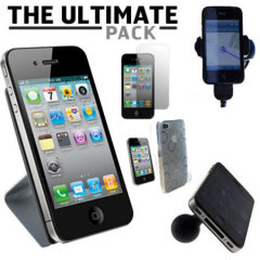Das Ultimate Pack iPhone 4S Zubehör Set in Weiß