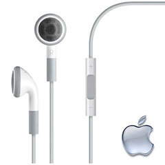 Auriculares Apple de calidad superior con mando y micrófono para un confort total.
