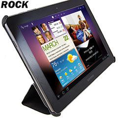 ROCK Light & Cool Leather Case voor Samsung Galaxy Tab 10.1 Zwart