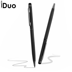 This black iDuo Stylus Pen has an omnidirectional tip which works with all capacitive touchscreens.