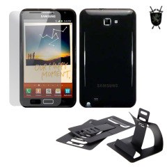 Pack Flexishield Imperial para el Galaxy Note - Negro