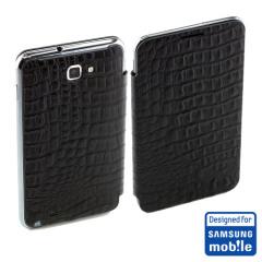 Original Samsung Galaxy Note Tasche im Flipdesign in Eidechse SAMGNLFC