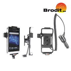 Charge and use your Sony Xperia S in your vehicle with this Brodit active holder with tilt swivel.