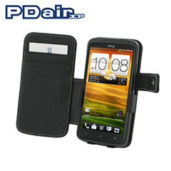 Keep your phone protected and easily to hand with this stylish leather book case by PDair for the HTC One X.