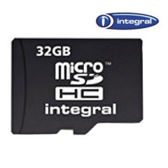 Carte mémoire micro SDHC Integral 32GB Class 10
