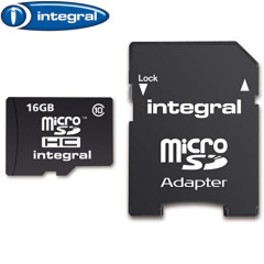 Carte mémoire micro SDHC Integral 16GB Class 10