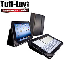 Tuff-Luv Type View Series Faux Leren Case voor iPad 3 - zwart
