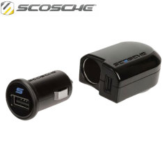 Scosche PowerFUZE International USB Wall & Car Charging Kit